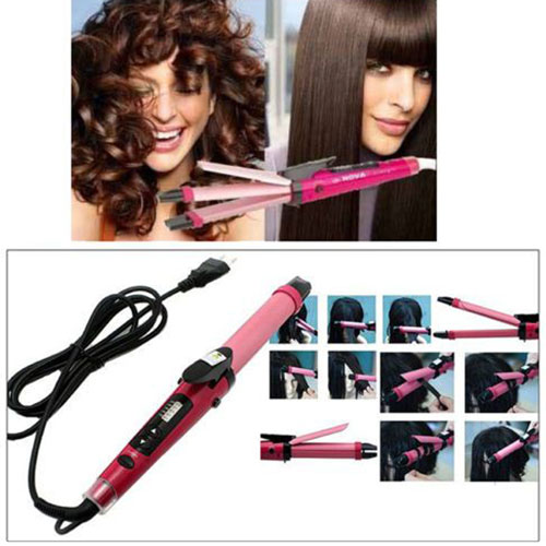 2 In 1 Hair Straightener Hair Curl