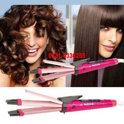 2 In 1 Hair Straightener Hair Curler