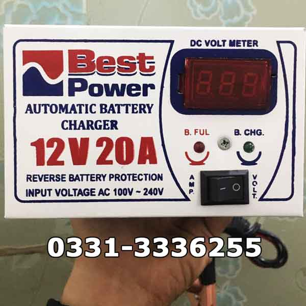 Full Automatic Battery Charger 12 Volt 20 Ampere