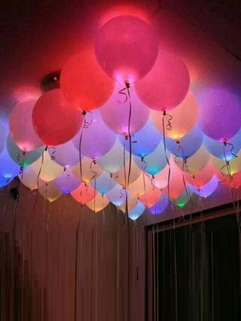 40 Colorful LED Party Balloons