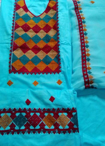 Fancy Embroidered Woolen Mixed Cotton Ladies Suit