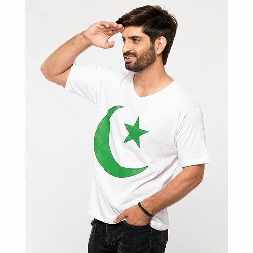 Independence Day V Neck T Shirt