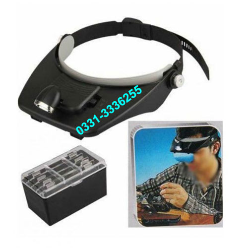 LED Head Light With Magnifier Kit