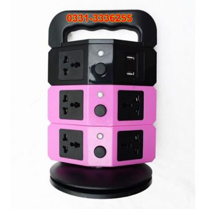 Tower Power Socket With USB Charging Station