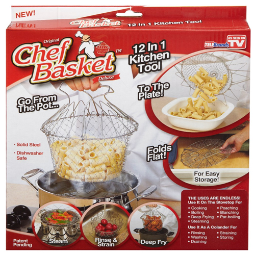 Chef Basket Deluxe Boiler, Steamer, Strainer & Frying