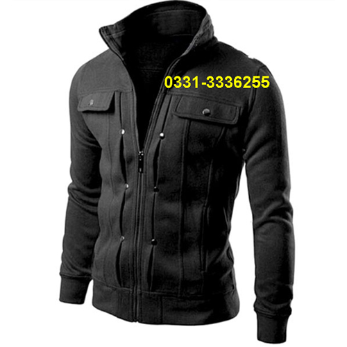 Stylish Fleece Jacket For Mens Black