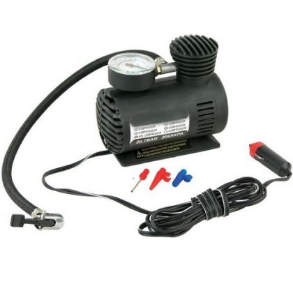 12 Volt Air Compressor Pump Black