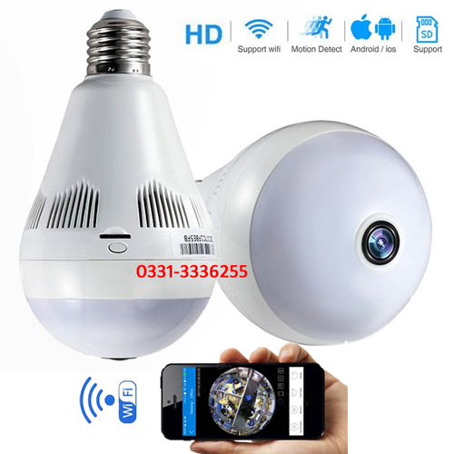 Led Bulb Hidden Wifi Camera 360 Degree