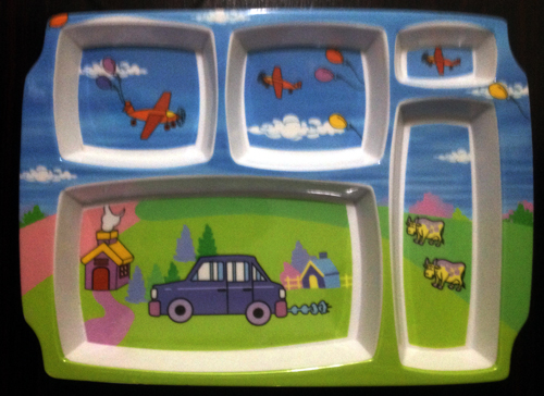 Kids School Lunch Tray 5 Compartment 2