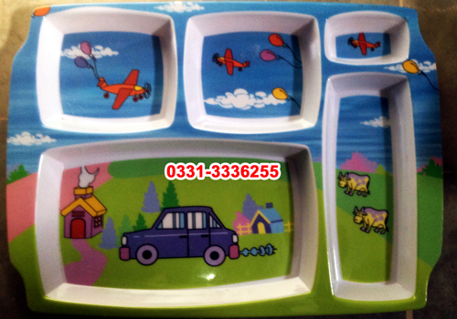 Kids School Lunch Tray 5 Compartment 4
