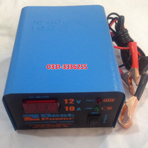 Fully Automatic 12 Volt 10 Ampere Digital Battery Charger 1