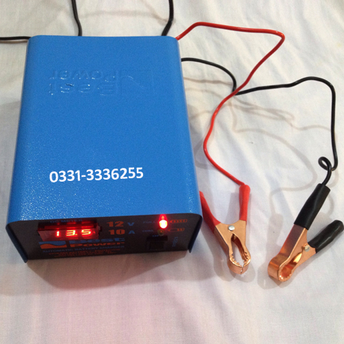 Fully Automatic 12 Volt 10 Ampere Digital Battery Charger 4
