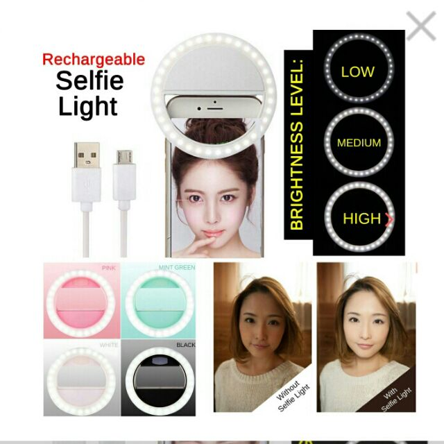 Selfie Ring Light (Rechargeable) For All Smart Phones (3)