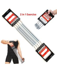 2 In 1 Springs Chest Expander & Hand Gripper Exerciser