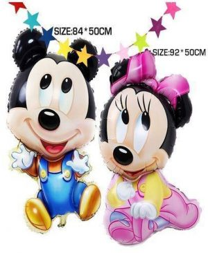 84X50Cm Big Jumbo Mickey Minnie Foil Balloons, Cartoon Kids