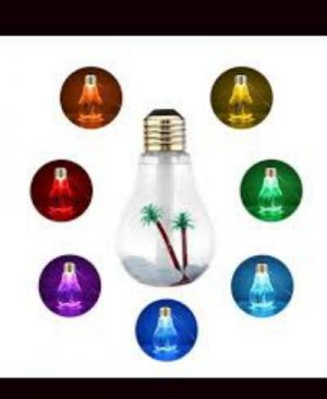 Afroozia Air Humidifier LED Light Bulb 7 Color Changing Atomizer Air Purifier