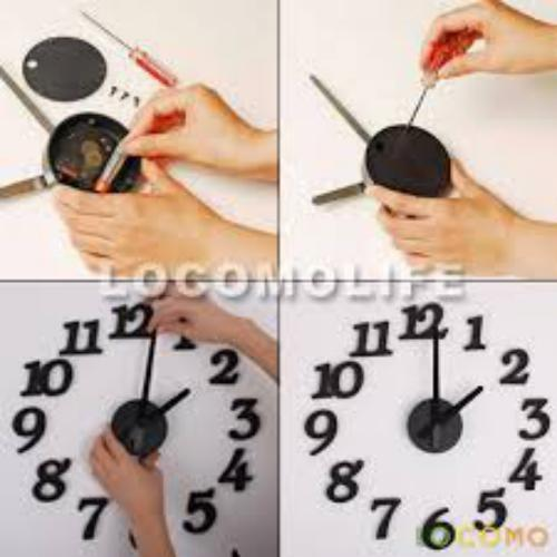 Diy Clock Home Decorations Black