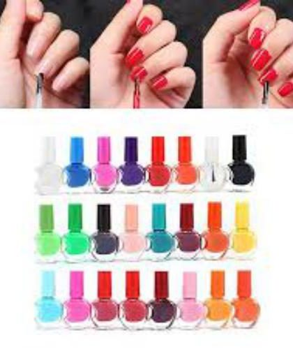 Pack 24 Peel Off Nail Paints   Multicolor