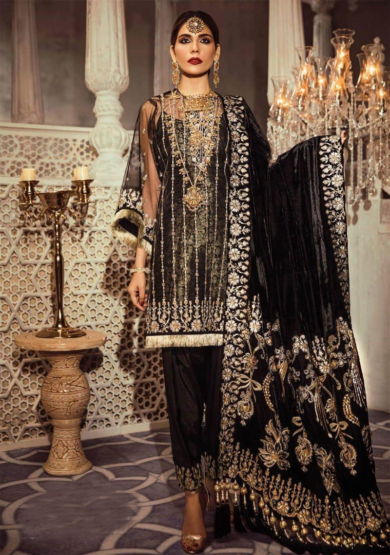 Embroidered Net Suit (DM AN 569) 0
