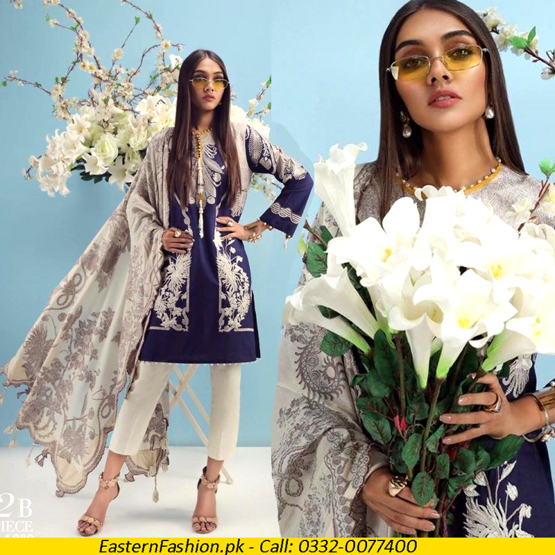 Lawn Front Back Embroidery Printed Suit (DM SS 611) 0