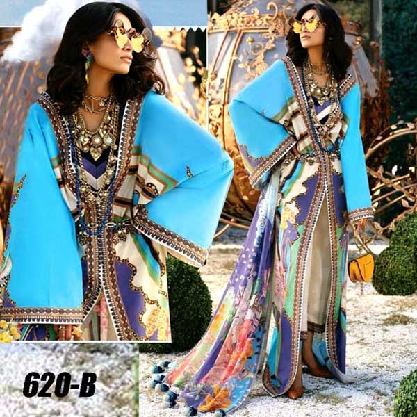 4 Suits Pack Of Embroidery Lawn Suits 2019 Design 620 B