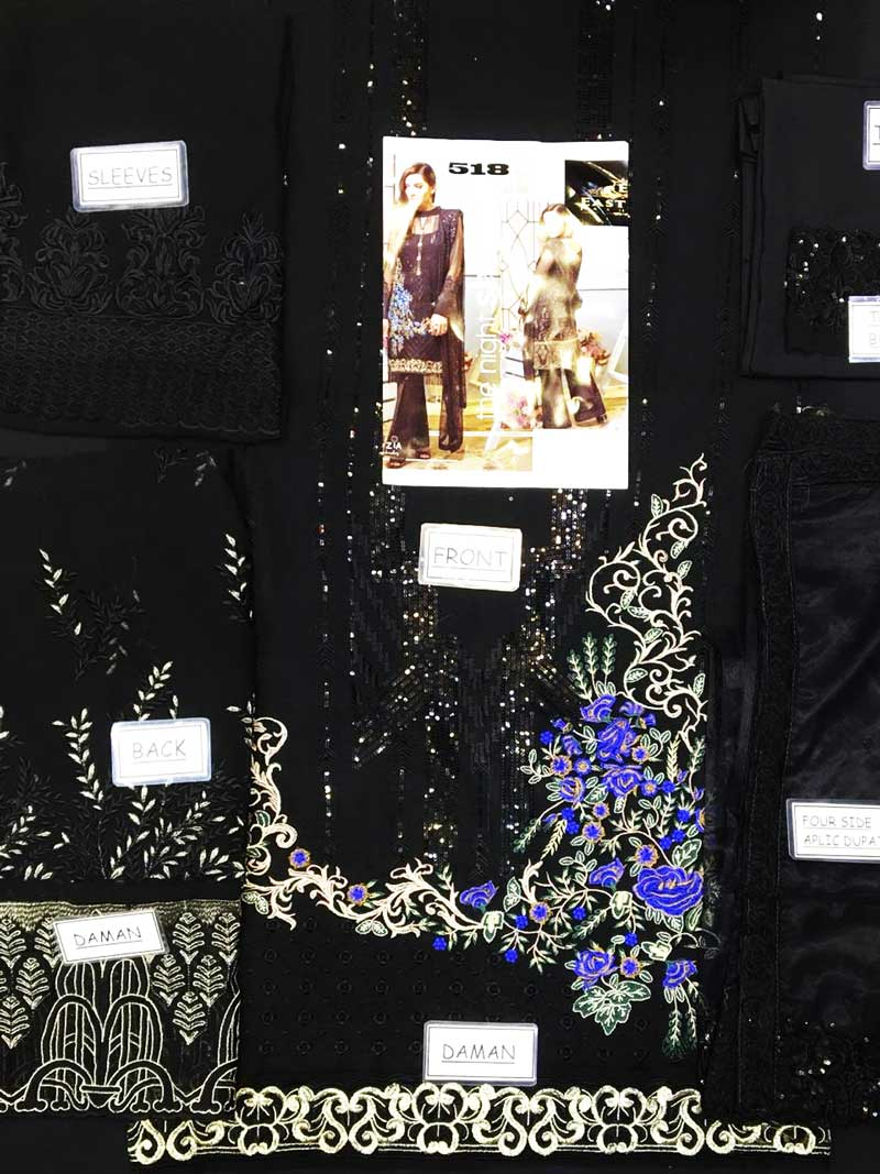 Full Embroidered Chiffon With Net Dupatta & Lace Embroidery Trouser (DM IMRZ 518) 0