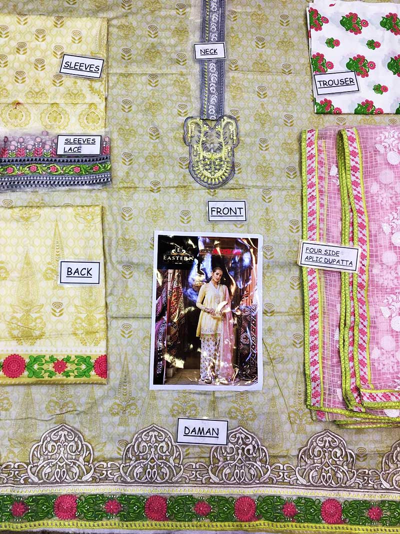 Luxury Embroidered Lawn Suit With Pure Organza Dupatta & Lawn Trouser (DM MB 656 A) 0