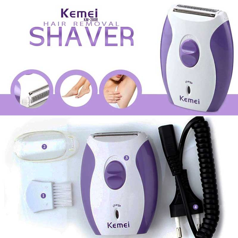 Original Kemei 280 R Ladies Hair Removal Rechargeable Machine 0