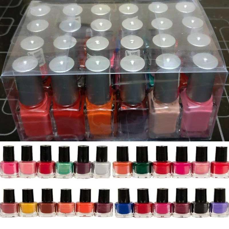 Pack Of 24 Peel Off Nailpolish Durable And High Quality 0