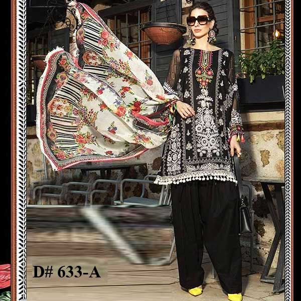 Special Summer Deal Of 4 Embroidery Lawn Suits 2019 Design 633A