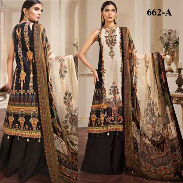 Special Summer Offer Pack Of 3 Embroidery Lawn Suits 2019 Design 662 A