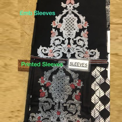 Black Lawn Suit Chiffon Dupatta With Printed Embroidery Sleeves DM AAY 623 A 1.jpg