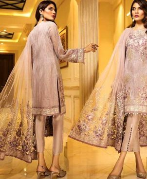 Chiffon Dress With Net Dupatta Malai Trouser DM JAZ 584.jpg