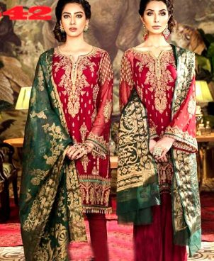 Chiffon Front Back Full Heavy Embroidery With Organza Dupatta DM IZN 542.jpg