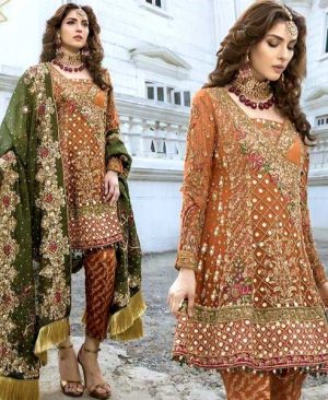 Chiffon Suit With Chiffon Dupatta Jamawar Trouser DM DS 571 4.jpg