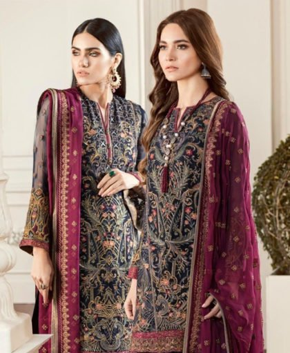 Embroidered Chiffon Dress With Embroidered Trouser DM BAR 590.jpg