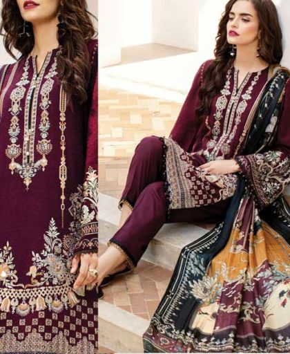 Embroidered Lawn Suit Printed Chiffon Dupatta Lawn Trouser DM BAR 671 2 1.jpg