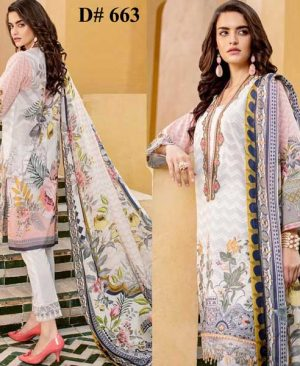 Embroidered Lawn Suit With Chiffon Dupatta Lawn Trouser DM BAR 663.jpg