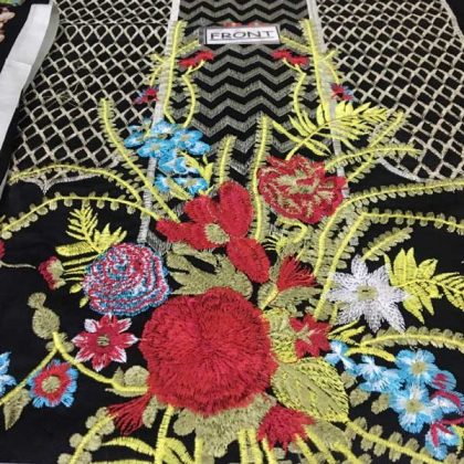 Embroidered Lawn Suit With Chiffon Printed Dupatta Lawn Trouser DM SS 653 A 1.jpg