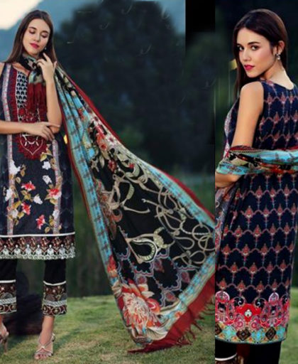 Embroidered Lawn Suit With Lawn Dupatta DM NF 594.jpg