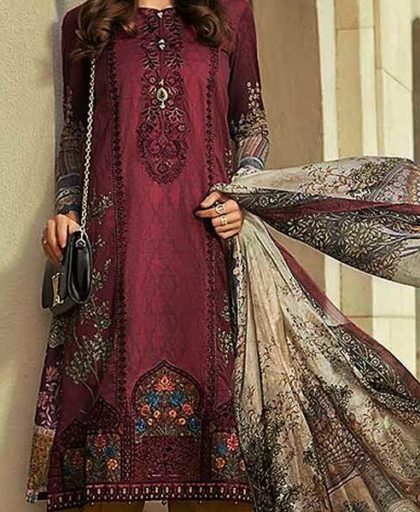 Embroidered Lawn Suit With Printed Chiffon Dupatta DM MB 632 2.jpg