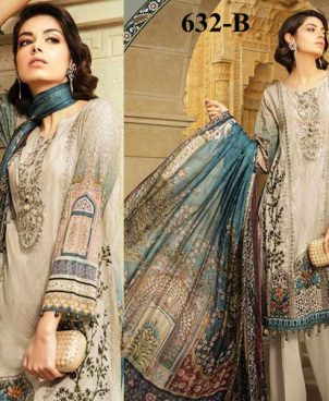 Embroidered Lawn Suit With Printed Chiffon Dupatta DM MB 632 B.jpg