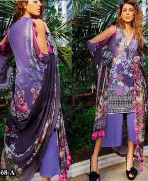 Embroidery Lawn Printed Suit With Chiffon Dupatta DM SN 668 A.jpg