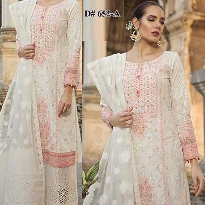 Embroidery Lawn Suit With Chiffon Dupatta Lawn Trouser DM MB 652 A 6.jpg