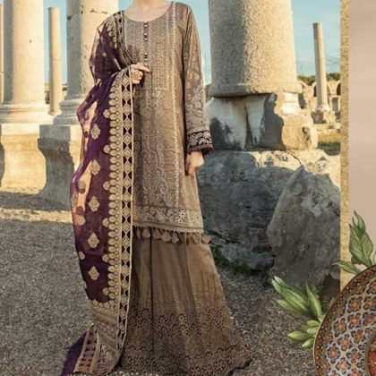 Embroidery Lawn Suit With Chiffon Dupatta Lawn Trouser DM MB 652 B 1 1.jpg