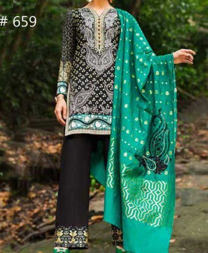 Embroidery Lawn Suit With Chiffon Dupatta Sleeves Daman Laces DM ZC 659.jpg