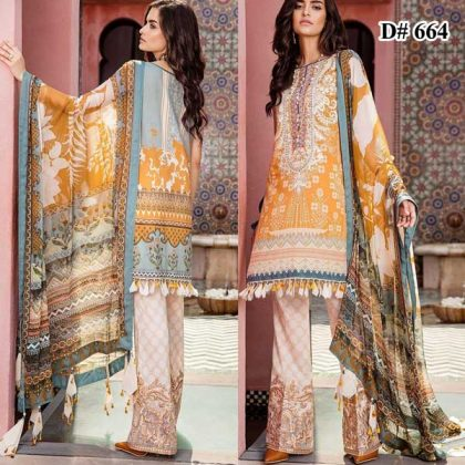 Embroidery Lawn With Chiffon Dupatta Trouser Lace Embroidery DM BAR 664.jpg