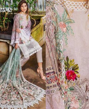 Embroidery Luxury Lawn With Net Dupatta Lawn Trouser DM SN 669 A.jpg