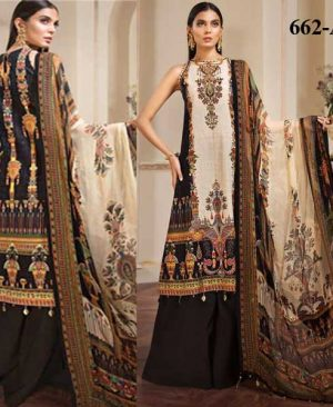 Embroidery Printed Lawn With Chiffon Dupatta Cambric Trouser DM AN 662 A.jpg