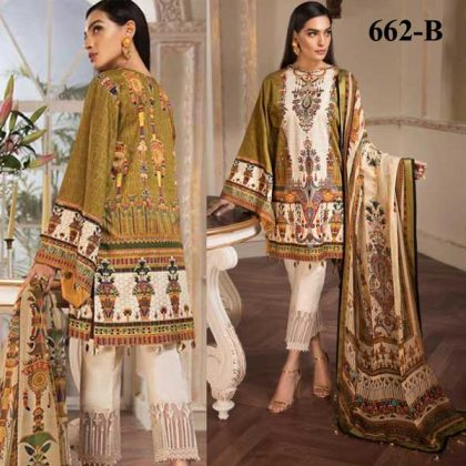 Embroidery Printed Lawn With Chiffon Dupatta Cambric Trouser DM AN 662 B.jpg